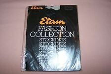 Etam Fashion Collection Women's One Size Lace Top Stockings NEW in Pack Black