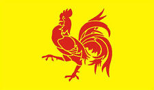 WALLONIEN YELLOW & RED CREST FLAG 5X3 - BELGIUM BELGIAN PROVENCE FLAG ROOSTER