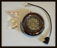 "WHITE 9 LED 2"" Round 12V AUXILIARY LIGHT WITH PIGTAIL, BEZEL, GROMMET WATERPROOF"