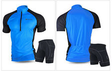 Pro Sports Mens Cycling Wear Short Sleeve Clothing Jersey Short Suit Bicycle Set