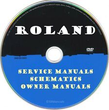 Roland Boss Hifi Service Manuals & Schematics- PDFs on DVD - Huge Collection