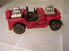HOT WHEELS REDLINE-GRASS HOPPER/JEEP-MAGENTA-MISSING WINDSHIELD AND TOP-