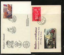 Thailand   2  cachet  covers   1966    1982   KL0130