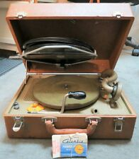 RCA Vintage Portable 78 RPM Wind Up Crank Record Player Phonograph Victrola