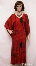 PLUS SIZE BOHO AZTEC FISH KAFTAN MAXI DRESS RUST 16 18 20 22 24 26 28 30 32