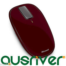 Microsoft Explorer Touch Limited Edition Mobile Wireless USB Optical Mouse Red