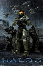 HALO 3 ~ TEAM 22x34 Video Game Poster XBOX 360 Spartans NEW/ROLLED!