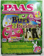 PAAS® BUGS & BUDDIES 3IN1 EGG DECORATING KIT EASY CHILD SAFE COLORING NIP