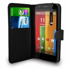 BLACK WALLET Leather Case Phone Cover for MOTORALA MOTO G 3 G3 2015 UK Seller