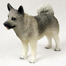 Norwegian Elkhound Hand Painted Collectible Dog Figurine