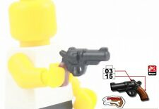 M365 Revolver for Lego minifigure overmold 2 color pistol brown hand gun weapon