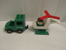 Lego Duplo Police Helicopter Truck Vehicle People Lot Set