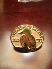 Ducks Unlimited 2013 Wisconsin Ladies Hat Lanyard Lapel Pin
