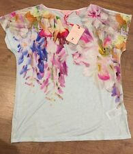 Ted Baker Hanging Gardens Floral Top Tee T-shirt BNWT ❤️ EFUNA SIZE 3 Uk 12
