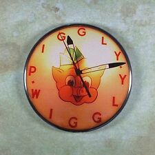 "Vintage Advertising Clock Photo Fridge Magnet 2 1/4"" Piggly Wiggly Pig 1950's"