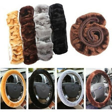 Imitation Wool Car Elastic Sleeve Winter General Plush Steering Wheel Cover New