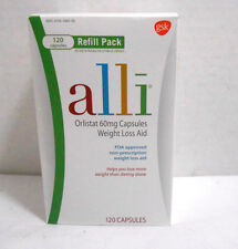 Alli 120 Capsules Refill Pack Orlistat 60mg Weight Loss Aid FDA Approved