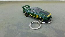 Diecast Custom 2015 Ford Mustang Green Toy Car Keyring Keychain