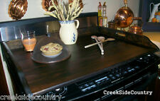 Sleek Noodleboard Wood Stove Top Board Cover -  dark walnut stained only