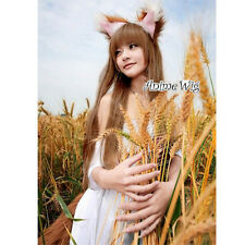 Spice and Wolf Holo Brown Long 100CM Straight Cosplay Anime Women Wig