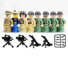 CUSTOM Pacific War Japan V US Army 8 Minifigures + Weapons & Lego Bricks