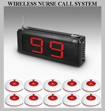 Z9S7- WIRELESS NURSE CALL SYSTEM WITH 10 PANIC BUTTONS ALERT SYSTEM EASY INSTALL