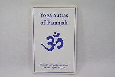 Yoga Sutras of Patanjali Charles Johnston 1993 Livre spirit en anglais