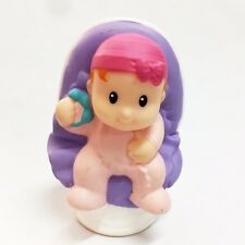 Fisher-Price Little People Family Baby with Pink Sleeper Figure Girl Toy Doll