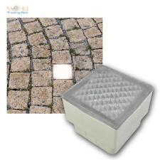 LED Pflasterstein-Leuchte 8x8 cm Boden-Einbauleuchte beleuchteter Pflaster-Stein