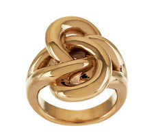QVC Polished North/South Bold Swirl Design Ring 14K Yellow Gold 4.0g Size 5 QVC
