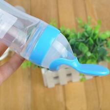 Blue New Hot Boon Squirt Silicone Baby Food Dispensing Spoon Safe Supplies us