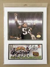TEDY BRUSCHI SUPER BOWL XXXVIII PATRIOTS 12X16 USPS MATTED PHOTO & EVENT COVER