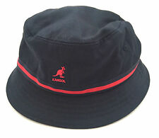 NWT Kangol Men's Navy Blue Canvas Fleece Atmos Rain Bucket Hat Crusher AUTHENTIC