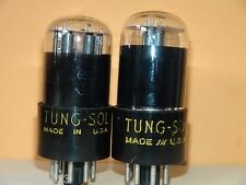 Matched Pair Tung Sol 6SC7 Vacuum Tubes  Very Strong  Results  = 1455/1505