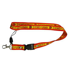 ESPANA SPAIN COUNTRY FLAG LANYARD KEYCHAIN PASSHOLDER ..  NEW