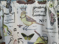 French  Country Window Valance Birds and Other Regal Things  Cotton