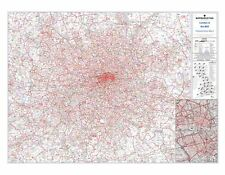 Postcode Sector Map 8 London and the M25 - Laminated Wall Map