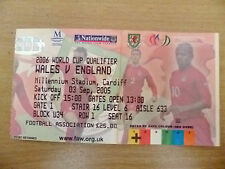 Tickets- World Cup 2006 Qualifier- WALES v ENGLAND, 3 Sept 2005