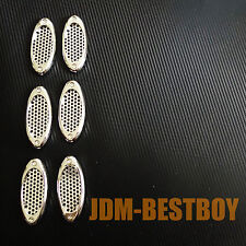 Euro Style Chrome Side Vent Car Air Flow Inake Fender Grille Mesh Scoop VIP #T1