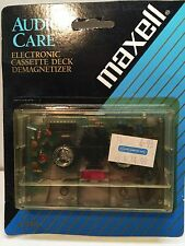 MAXELL CORRODED BATTERY ELECTRONIC CASSETTE DECK DEMAGNETIZER AS-IS YELLOWED