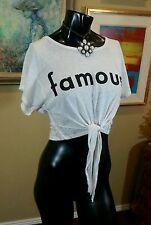 FAMOUS Vintage GROUPIE TRUNK LTD  70s 80s st CROP TIE SLOUCH TOP NWOT NEW hippy