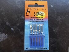 PONY Sewing MACHINE NEEDLES- STRETCH pk5  size 90 (130/75)