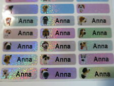 120  Dog Sparkle Personalized Waterproof Name Stickers Labels Decals 3 cm x 1cm