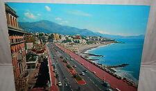 GENOVA CORSO ITALIA E GOLFO PARADISO 1962 Vecchia foto cartolina fotografia di