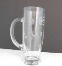 Princess House Tall Etched Crystal Mug Beer Tankard Heritage 18oz  #6363