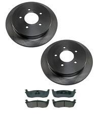 1997-2000 Ford F150 Rear Brake Rotors & Ceramics Pads 5 Lug 12MM Studs