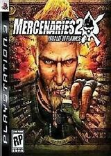 PLAYSTATION 3 PS3  MERCENARIES 2 WORLD IN FLAMES  NEW