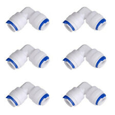 "6x 90° Elbow Quick Connect Tube Fitting 1/4"" for Reverse Osmosis Water"