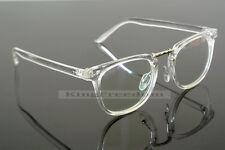 Vintage Men Women Transparent Eyeglass Frame Glasses Retro Spectacles Rx able