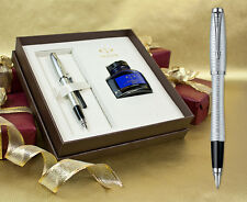 Parker Urban Premium Fountain Pen - Silver-Blue Pearl Gift Set